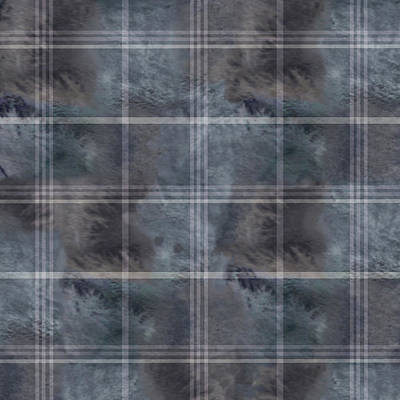 Digital Art - Moody Blue Plaid by Sand And Chi
