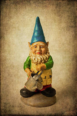 Photograph - Moody Garden Gnome by Garry Gay