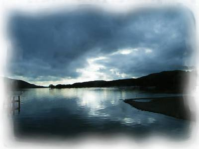 Digital Art - Moody Sky Painting by JLowPhotos
