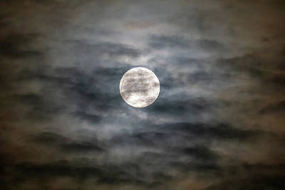 Photograph - Moon And Clouds by Allin Sorenson