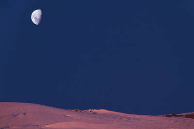 Photograph - Moon And Mountain by Matias Bennewitz