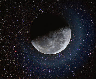 Photograph - Moon And Stars by Dennis Lane