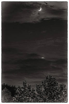 Photograph - Moon And Venus by Jack Peterson