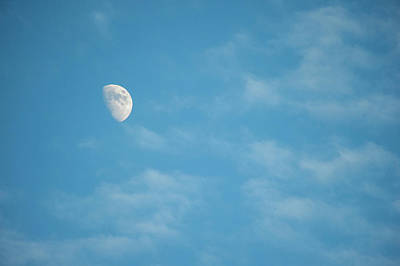 Arizona Photograph - Moon In A Late Afternoon Sky by Brian Stablyk