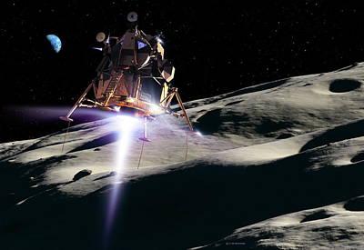 Photograph - Moon Landing by Detlev Van Ravenswaay