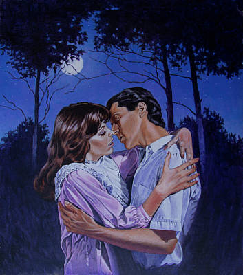 Painting - Moon Light Kiss by Richard De Wolfe