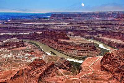 Photograph - Moon Over Deadhorse Point by Andy Crawford