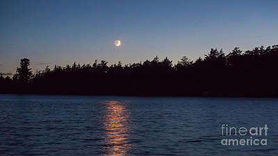 Photograph - Moon Over Long Lake by Kevin McCarthy