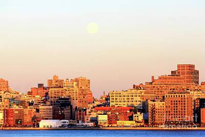 Photograph - Moon Over Manhattan 2006 by John Rizzuto
