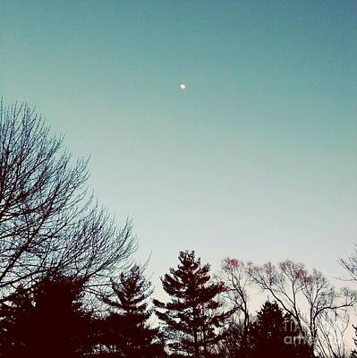 Frank J Casella Royalty-Free and Rights-Managed Images - Moon Over the Golden Hour by Frank J Casella