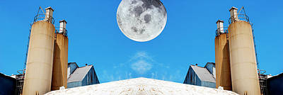 Photograph - Moon Over The Mill by Paul W Faust - Impressions of Light