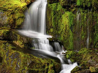 Photograph - Moon Pass Waterfall by Leland D Howard