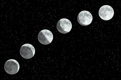 Photograph - Moon Phases by Rob Atkins