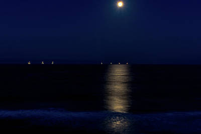 Photograph - Moon Setting Early Morning by Jack Peterson