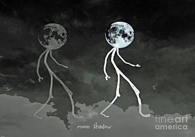 Drawing - Moon Shadow by Lizi Beard-Ward