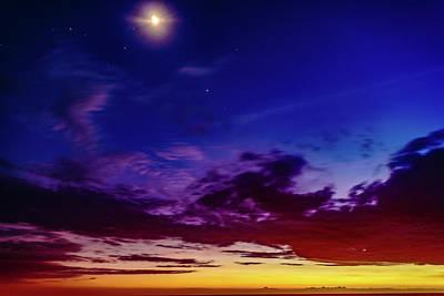 Photograph - Moon Sky by John Bauer
