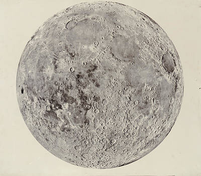 Moon With Craters Art Print
