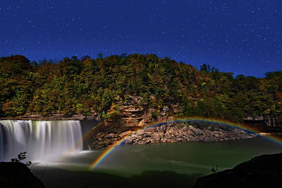 Venice Beach Bungalow - Moonbow At Cumberland Falls by Jim Vallee