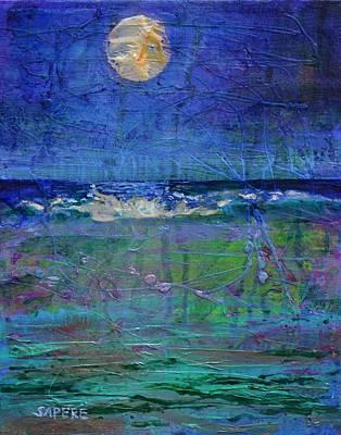 Lynee Sapere Wall Art - Painting - Moondance by Lynee Sapere