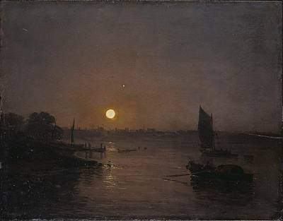 Painting - Moonlight, A Study At Millbank by William Turner
