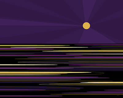 Digital Art - Moonlight Bay by Val Arie