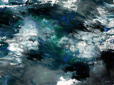 Painting - Moonlight Ocean- Abstract Art By Linda Woods by Linda Woods