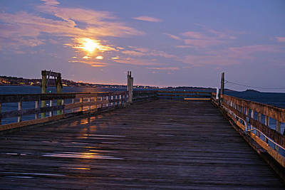 Photograph - Moonlight On The Salem Willow Pier Reflection Salem Ma by Toby McGuire