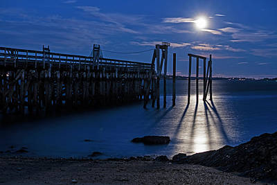 Photograph - Moonlight On The Salem Willow Pier Salem Ma by Toby McGuire