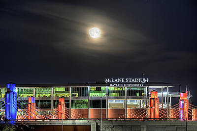 Photograph - Moonlight Over Mclane Stadium by JC Findley