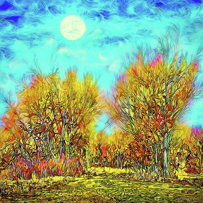 Digital Art - Moonlit Country Road - Boulder County Colorado by Joel Bruce Wallach