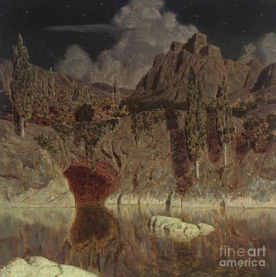 Painting - Moonlit Lake, 1923 by Ivan Fedorovich Choultse