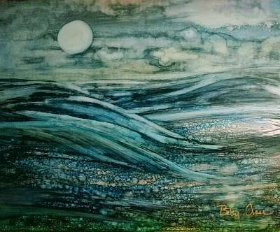 Painting - Moonlit Storm by Betsy Carlson Cross