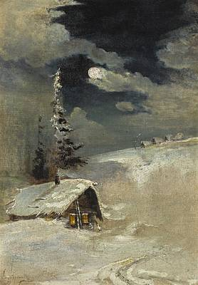 Painting - Moonlit Winter Landscape by Alexei Savrasov