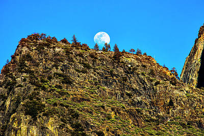 Photograph - Moonrise Behind Yosemite Ridge by Garry Gay