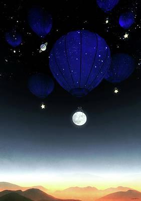 Digital Art - Moonrise by Cynthia Decker