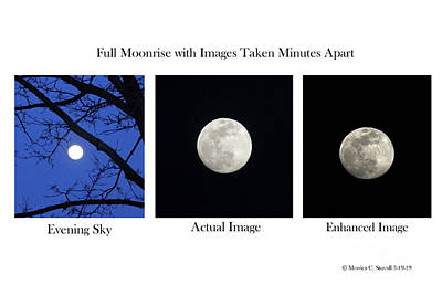 Photograph - Moonrise Images by Monica C Stovall