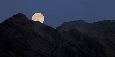 Photograph - Moonrise Over The Funeral Mountains by Loree Johnson