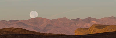 Photograph - Moonset Over Death Valley by Loree Johnson