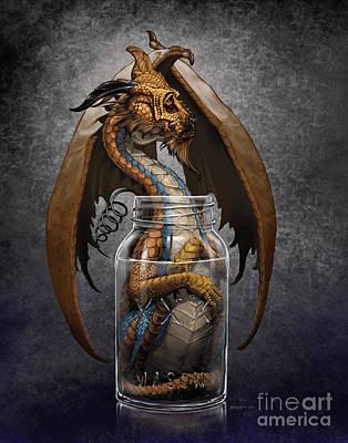 Digital Art - Moonshine Dragon by Stanley Morrison