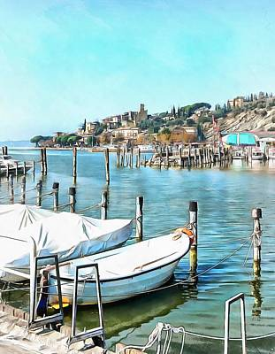 Photograph - Moored Boats At Passignano by Dorothy Berry-Lound