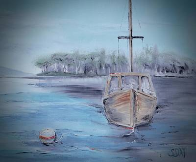 Painting - Moored Sailboat by Sandra Day
