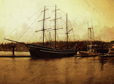 Photograph - Moored by Thom Zehrfeld