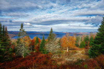 Photograph - Mooselookmeguntic Lake Fall Colors by Russ Considine