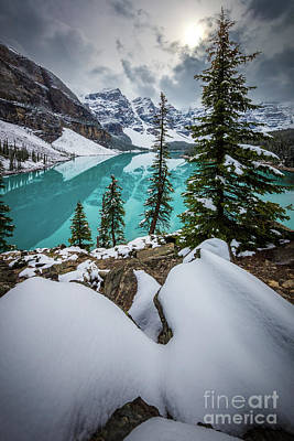 Photograph - Moraine Lake In Winter by Inge Johnsson