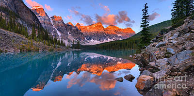 Photograph - Moraine Lake Summer Sunrise Spectaclar by Adam Jewell