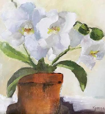 Karen Jordan Wall Art - Painting - More Orchids by Karen Jordan