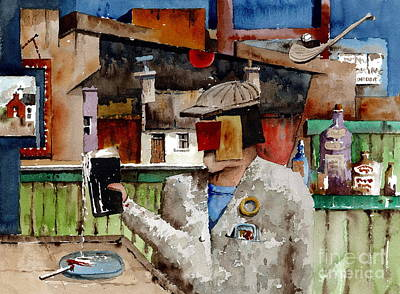 Painting - More Thro The Window On The World by Val Byrne