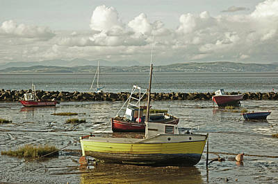 Photograph - Morecambe. Boats On The Shore. by Lachlan Main
