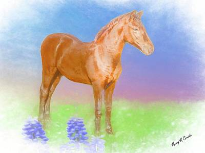 Digital Art - Morgan Foal. by Rusty R Smith