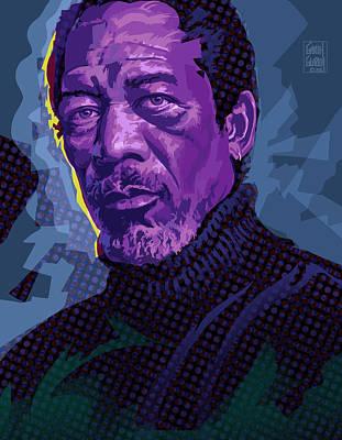 Morgan Freeman Pop Art Portrait Original